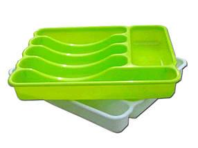 Лоток для столових приладів Люкс (60*380*325мм) св. зелений ТМКОНСЕНСУС