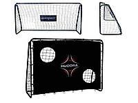 Футбольные ворота hudora freekick + мат для тренировки точности