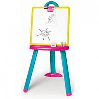 Smoby Двухсторонний Мольберт pink-blue со съемной доской