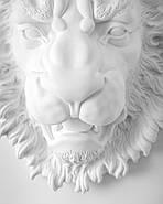 Настенный декор Голова Льва (белый), фото 2