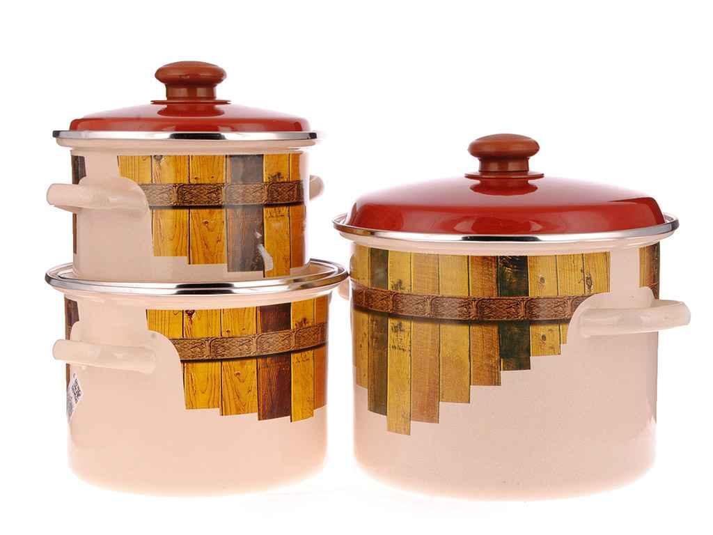 Набор эмалированной посуды Idilia Тын 3 предмета (№734)