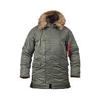 Парка Куртка зимняя летная Slim Fit Аляска N-3B Оливковая