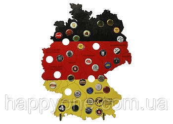 Пивная карта Германии Capsboard Germany Colored