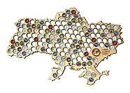 Большая пивная карта Украины Capsboard Ukraine Big, фото 6