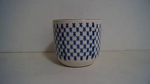 Кашпо горшок для цветов серый керамический декоративный