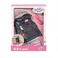 Zapf Creation Джинсовая одежда для куклы с очками «Baby born Deluxe»