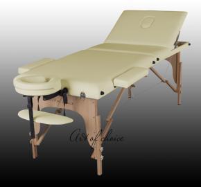Массажный стол на  3-секции складной/переносной SOL кушетка для массажа, для депиляции, кушетка для шугаринга