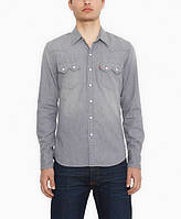 Джинсовая рубашка Levis Sawtooth Western - Grey  Denim (L)
