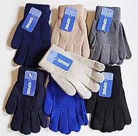 Детские перчатки однотонные на микро-флисе Корона