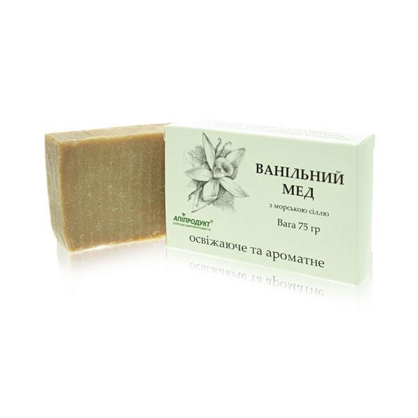 Ванільний мед пілінгове мило [Для всіх типів шкіри. Тонізує та регенерує шкіру]