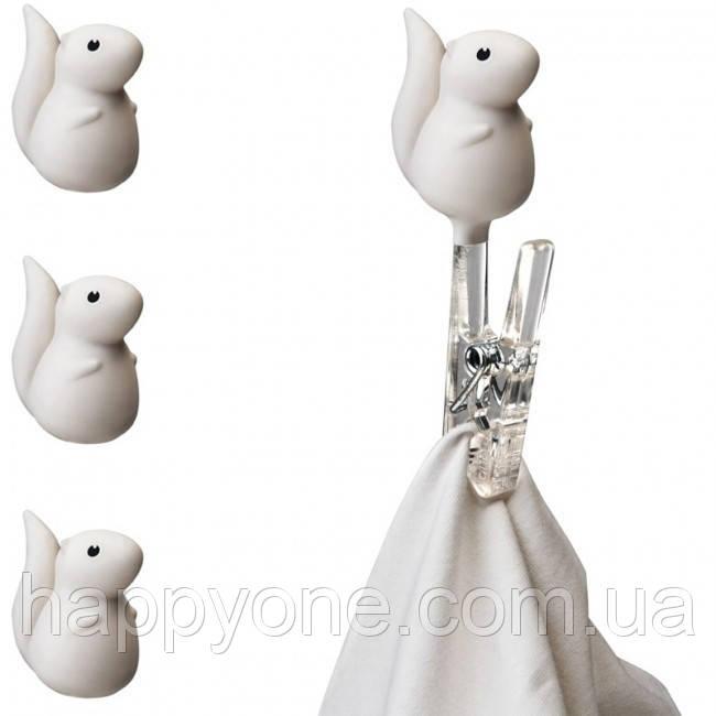 Набір прищіпок Peg Squirrel Qualy (білий)