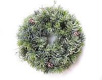 Венок новогодний с шишками 30 см Зеленый (9590031IK1)