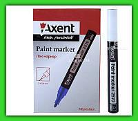 Маркер-краска Axent 2570 2.4-2.8 мм белый