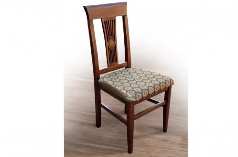 Деревянный обеденный стул из массива дерева, с мягкой сидушкой - Юля