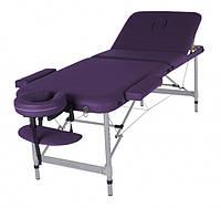Разборной массажный стол  три секции  - LEO