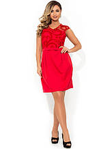 Оригінальна жіноча міні сукня червоне розміри від XL ПБ-120