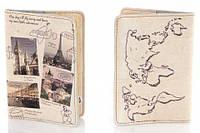 Обложка на паспорт из мягкой кожи для путешественников