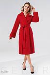 Классическое демисизонное пальто красного цвета, фото 2