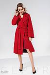 Классическое демисезонное пальто красного цвета, фото 3