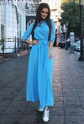 Платье голубое Viravi Wear, модель 1020