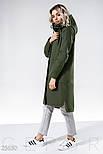 Кашемировое спортивное пальто оливкового цвета, фото 2