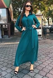Платье темно-зеленое Viravi Wear, модель 1020