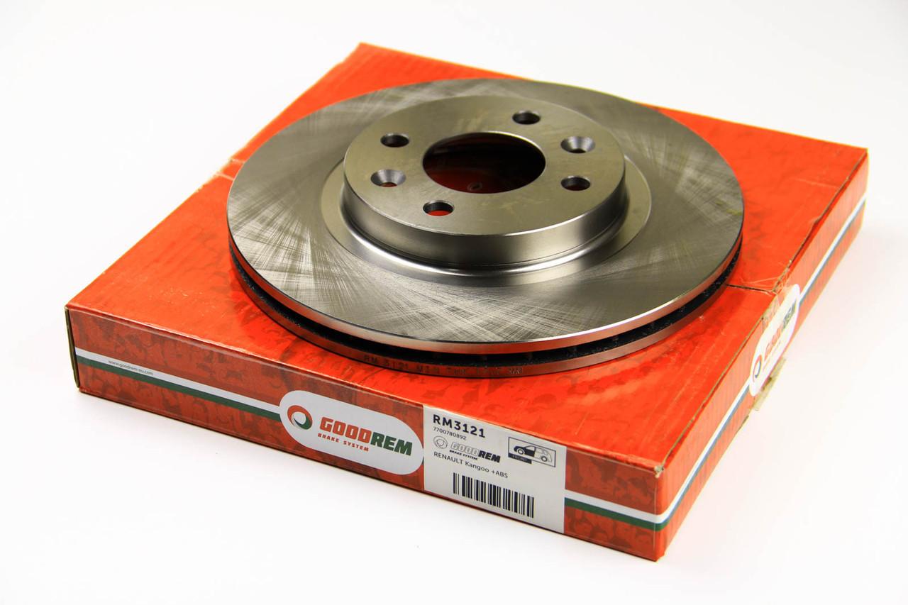 Тормозной диск передний Renault Clio I (+ABS) (259x20.6) GOODREM