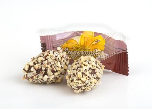"""Конфета """"Миндалинка"""" с молочно-шоколадным пралине в глазуре 1,7кг. ТМ Шоколадно"""