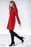Двубортное кашемировое пальто красного цвета, фото 2