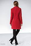 Двубортное кашемировое пальто красного цвета, фото 3