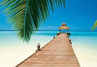 Фотообои бумажные на стену 366х254 см 8 листов: Море, Райский пляж №284, фото 1