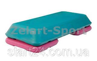 Степ-платформа  ZLT FI-4731 (пластик, р-р 72Lx36,5Wx15H, бирюзовый-малиновый) CDT004