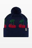 Тёплая зимняя шапка Urban Planet - СN13 NVY CHERRY, фото 1