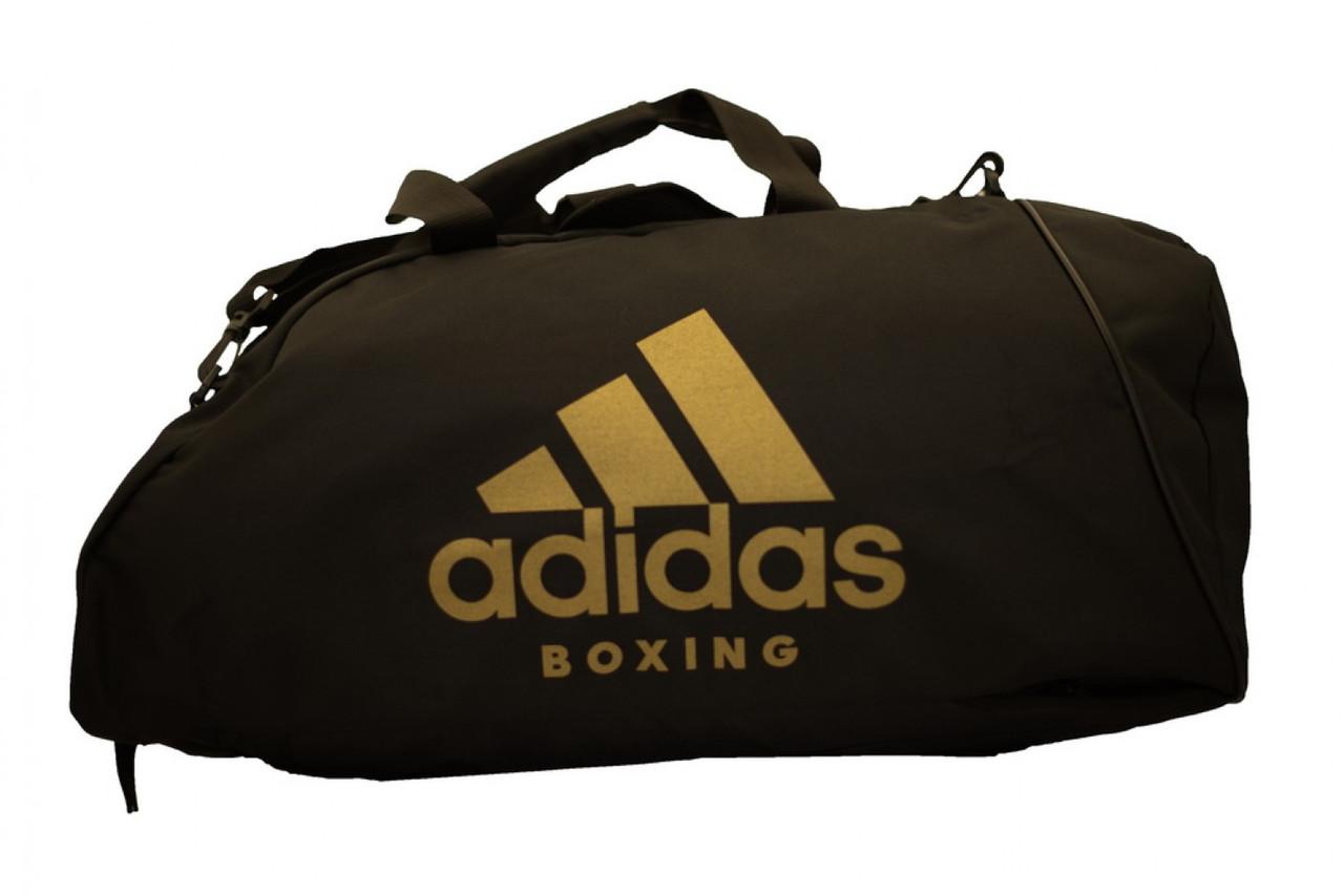 Сумка-рюкзак (2 в 1) ADIACC052B. Цвет черный, золотой логотип Boxing