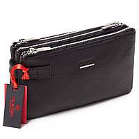 Мужская сумка барсетка кожаная чёрная Eminsa 5095-12-1, фото 1