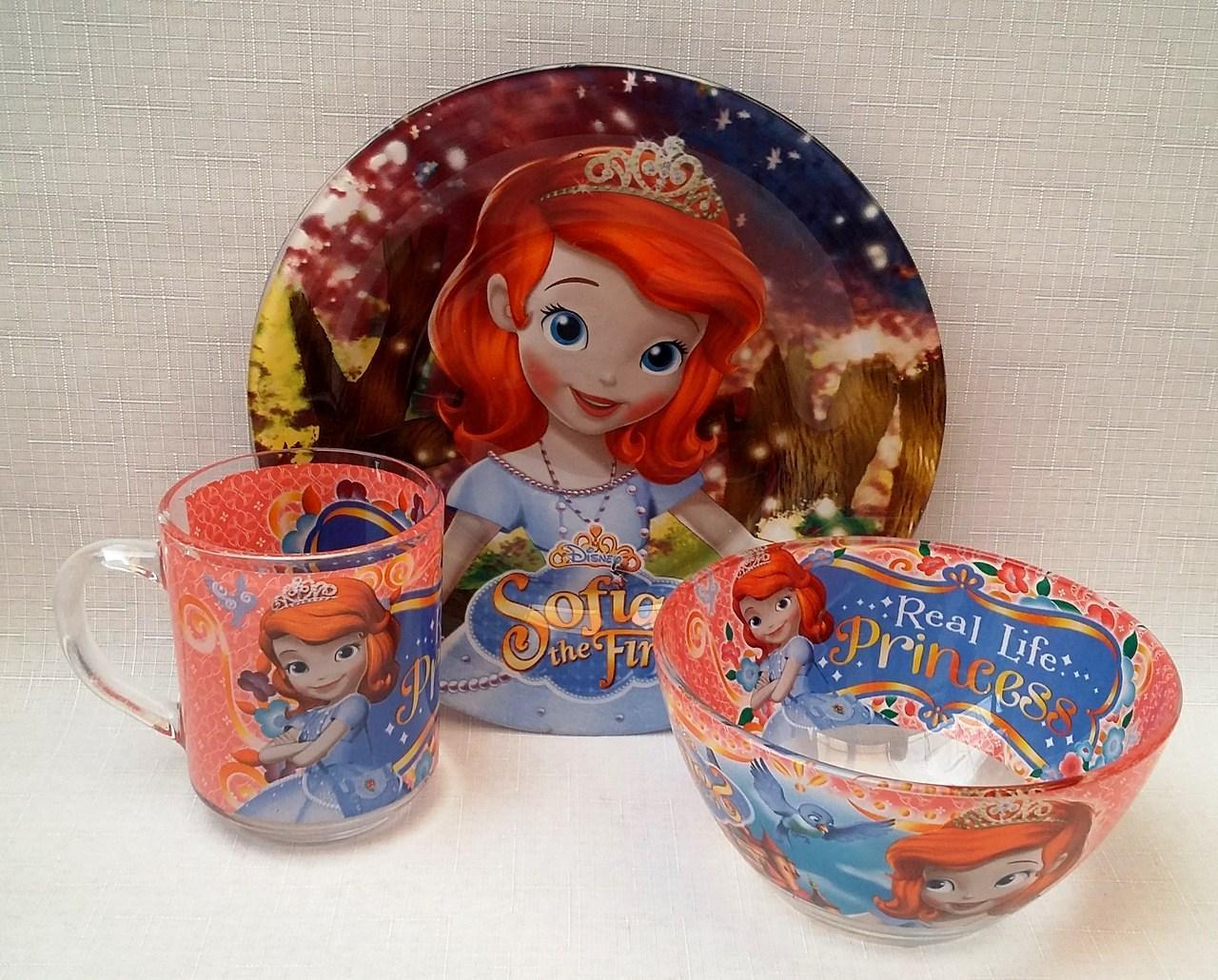 Набор детской посуды Принцесса София