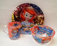 Набор детской посуды Принцесса София, фото 1