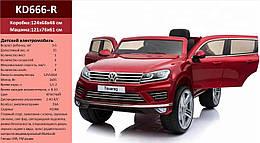Электромобиль VW Touareg KD666-R КР 2.4G р/,MP3, аккум 12V10AH, кол. EVA, кожа, в кор.124*68* /1/