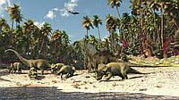 Фотообои бумажные на стену 368х254 см : Эра динозавров (165P8CN), фото 1