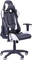 Геймерское кресло VR Racer Blade чёрно-белый, фото 1