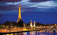 Фотообои бумажные на стену 368х254 см : ночной Париж - Эйфелева башня (3394P8CN), фото 1