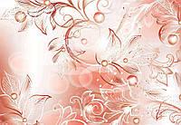 Фотообои бумажные на стену 368x254 см Нарисованные листья (557CN), фото 1