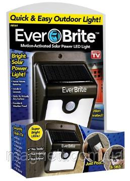 Светильник Ever Brite Эвер Брайт с датчиком движения на солнечной панели