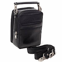 Мужская сумка барсетка кожаная черная  Eminsa 6010-12-1, фото 1