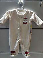 Слипер Флисовый Детский Человечек рождественский Little Wonders Пижама Рост 55 см