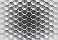 Фотообои готовые 368x254 см 3D шестигранник (10760CN), фото 1