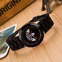 """Часы """"Adidas""""черный /белый циферблат стильный аксессуар"""
