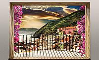 Фотообои готовые 368x254 см Балкон с видом на горы (11464CN)