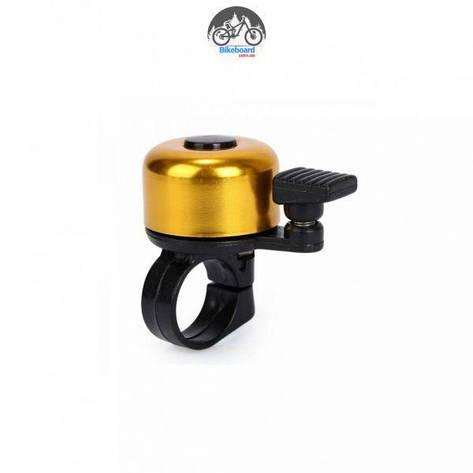 Звонок Green Cycle GBL-02A желтый 35мм, фото 2