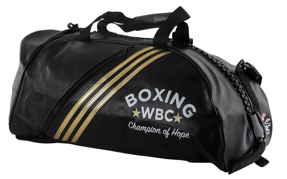 Сумка-рюкзак (2 в 1) ADIACC051WB . Цвет черный. золотой логотип WBC